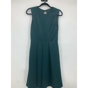 ASOS dress 8 fit and flare open back pleated